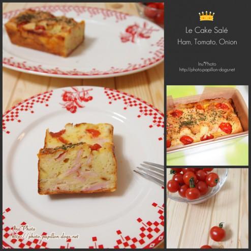 Le Cake Salé Ham, Tomato, Onion