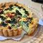 Quiche  Anchovy, Dried Tomatoes, Broccoli