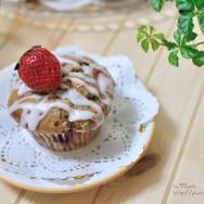 Raspberry and Strawberry Muffins