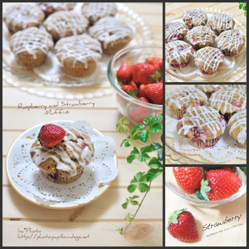 Raspberry and Strawberry Muffins
